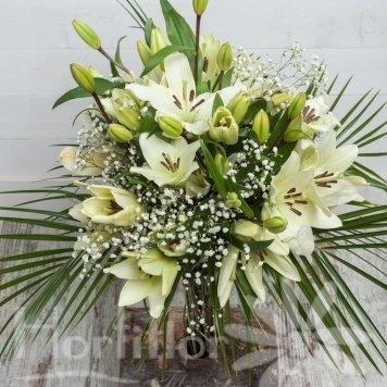 ramo lilium blanco hortiflor floristas 1