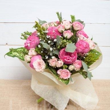 ramo romantico hortiflor floristas 1