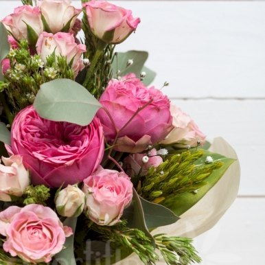 ramo romantico hortiflor floristas 2
