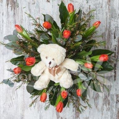 ramo tulipanes con osito hortiflor floritas 1